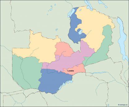 zambia vector map