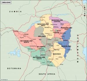 zimbabwe political map