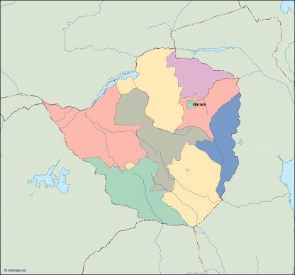zimbabwe vector map