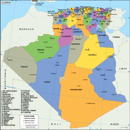 Algeria EPS map