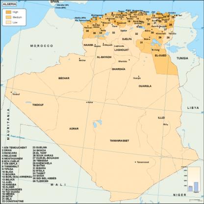 Algeria economic map