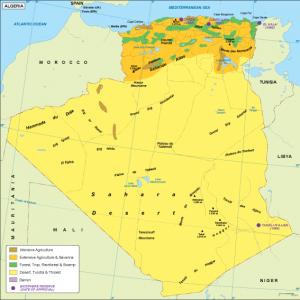 Algeria vegetation map