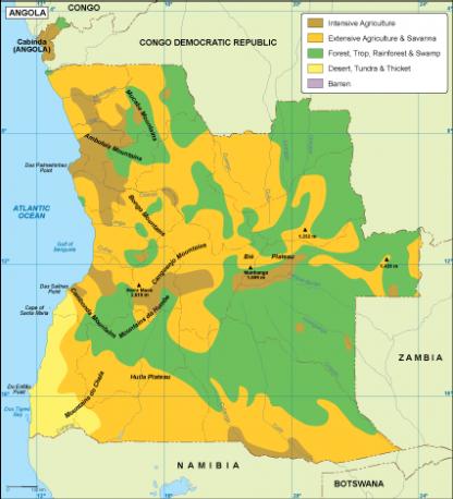 Angola vegetation map