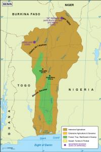Benin vegetation map