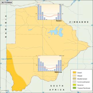 Botswana climate map