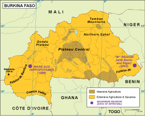 Burkina Faso vegetation map