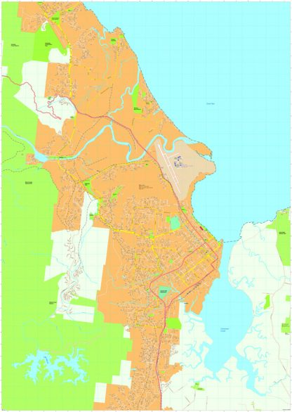 Cairns Vector Maps