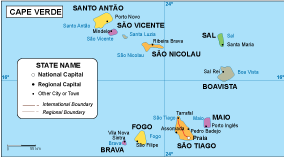 Cape Verde EPS map