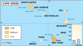 Cape Verde economic map