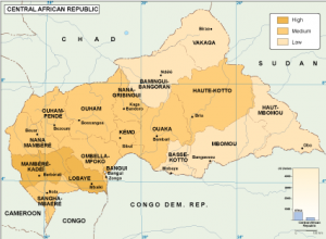Central Afr Rep economic map