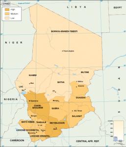 Chad economic map