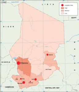 Chad population map