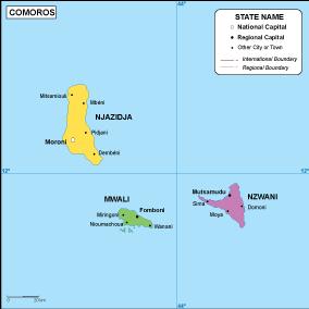 Comoros EPS map