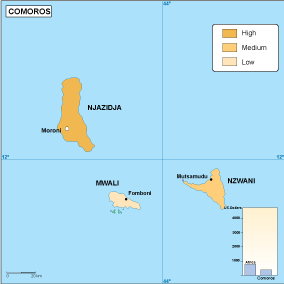 Comoros economic map