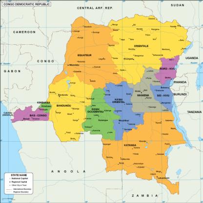 Congo Dem Rep EPS map