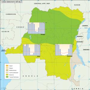 Congo Dem Rep climate map