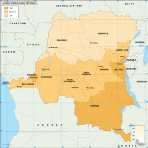 Congo Dem Rep economic map