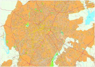 Curitiba vector map