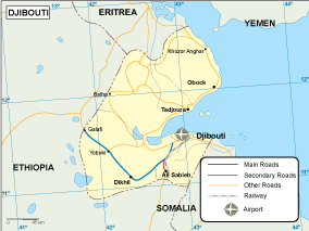 Djibouti transportation map