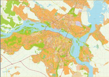 Dnipropetrovsk Illustrator Map