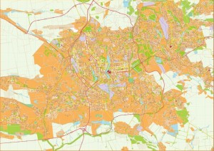 Donetsk Illustrator Map