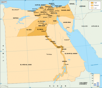Egypt economic map