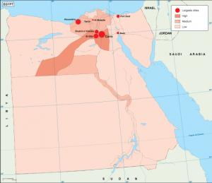 Egypt population map