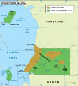 Equatorial Guinea vegetation map