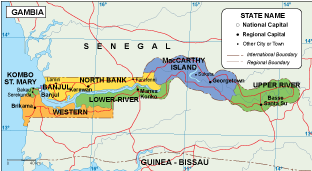 Gambia EPS map