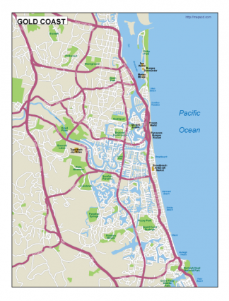 Gold Coast EPS map