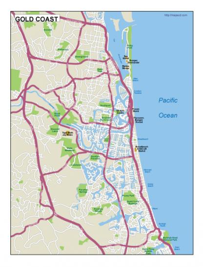 Gold Coast EPS map