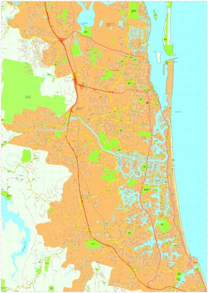 Gold coast Vector Maps