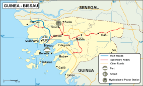 Guinea Bissau transportation map