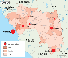 Guinea population map
