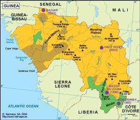 Guinea vegetation map