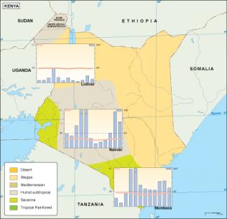 Kenya climate map