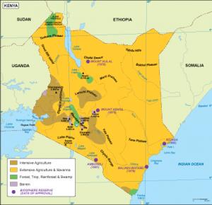 Kenya vegetation map