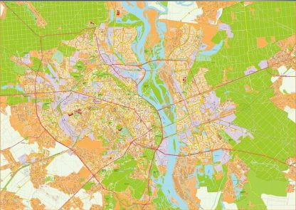 Kiev Illustrator Map