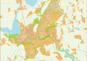 Krivoy rog Illustrator Map