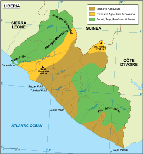 Liberia vegetation map
