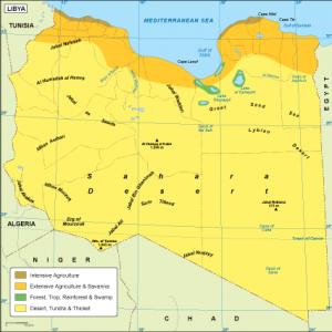 Libya vegetation map