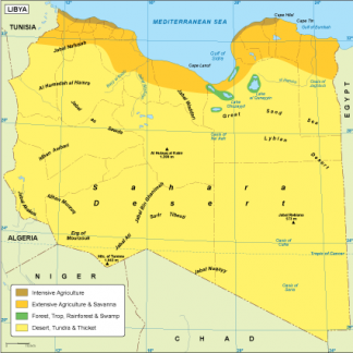 Libya vegetation map