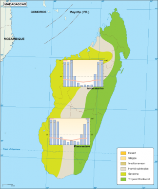 Madagascar climate map