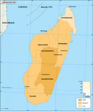 Madagascar economic map