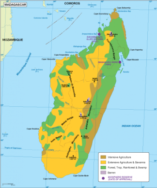Madagascar vegetation map