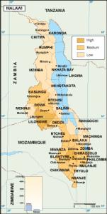Malawi economic map