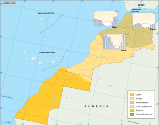 Morocco climate map