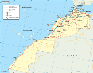 Morocco transportation map