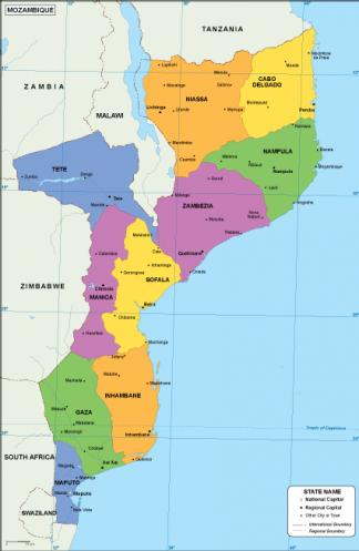 Mozambique EPS map
