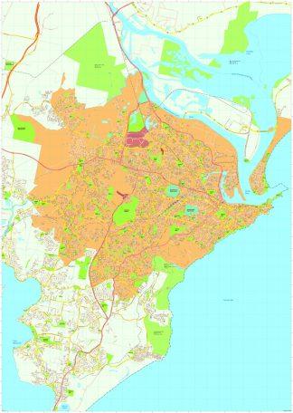 Newcastle Vector Maps